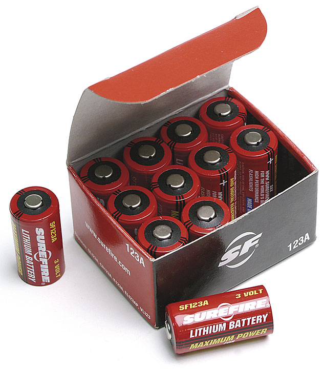 Surefire Battery Pack of 4 123A