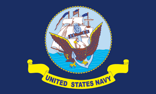 US Navy Flag Embroidered One Size