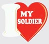 Love my Soldier Decal