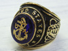 Navy encrusted ring Blue stone 13