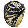 Air Force encrusted ring Blue stone 10