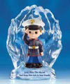 "Lord, Bless this Marine Figure Glass 4"" H"